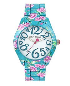 Floral Graphic Printed Case & Bracelet Watch 42mm