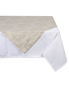 Design Imports Winter Sparkle Jacquard Square Table Topper