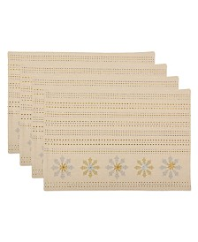 Design Imports Sparkle Snowflakes Embellished Placemat Set