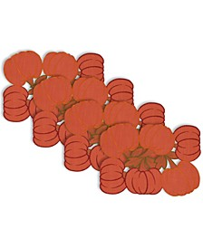 Embroidered Pumpkins Placemat Set