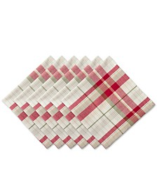 Design Imports Orchard Plaid Napkin Set