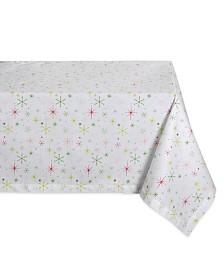Design Imports Christmas Star Print Tablecloth