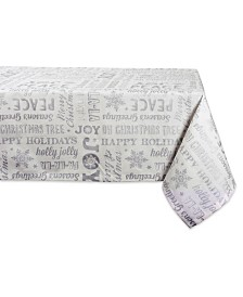 Design Imports Christmas Collage Tablecloth
