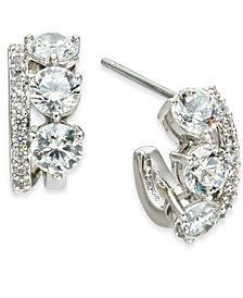 Eliot Danori Silver-Tone Cubic Zirconia Small Hoop Earrings, Created For Macy's
