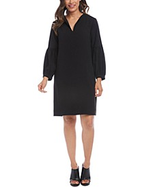 Blouson-Sleeve Shift Dress