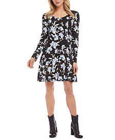 Printed Erin A-Line Dress
