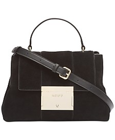 DKNY Adam Leather Top Handle Satchel, Created for Macy's
