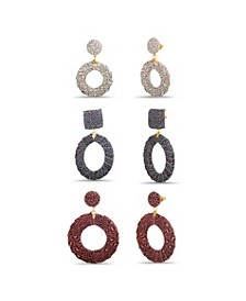 Animal Print Drop Earring Set