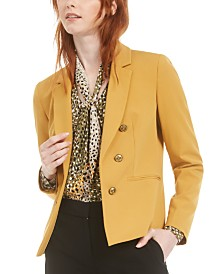 Bar III Faux-Double-Breasted Blazer, Created for Macy's