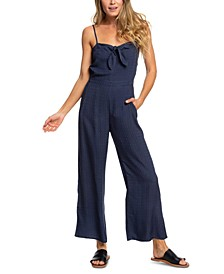 Juniors' Feel The Retro Spirit Strappy Jumpsuit