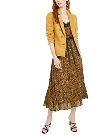 Faux-Double-Breasted Jacket, Snake-Print Lace-Trim Camisole & Tie-Detail Pleated Snake-Print Skirt, Created for Macy's
