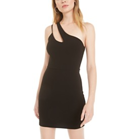 B Darlin Juniors' One-Shoulder Cutout Sheath Dress, Created for Macy's