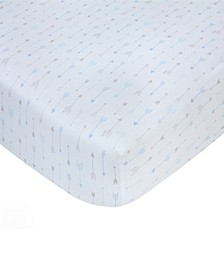 Cotton Sateen Crib Sheet - Arrow Print