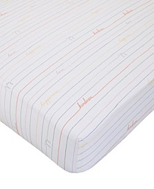 Cotton Tail Love Stripe Fitted Crib Sheet