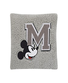Mickey Mouse Sherpa Pillow with Applique