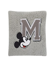 Disney Mickey Mouse Sherpa Pillow with Applique