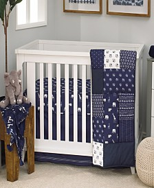 Nojo Indigo Safari 4-Piece Crib Bedding Set