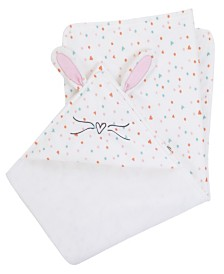 Cotton Tail Hooded Bunny Baby Blanket