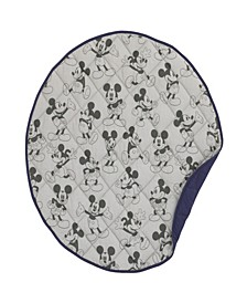 Mickey Mouse Round Quilted Blanket