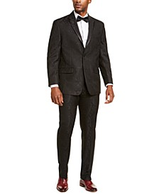 Men's Classic-Fit Black Paisley Suit Separates