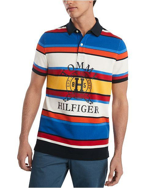 Tommy Hilfiger Men's Slim Fit Spruce Stripe Polo Shirt