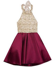 Rare Editions Big Girls Embroidered Halter Dress