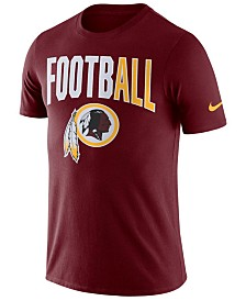 Nike Men's Washington Redskins Dri-Fit Cotton Football All T-Shirt