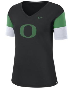 Nike Women's Oregon Ducks Breathe V-Neck T-Shirt