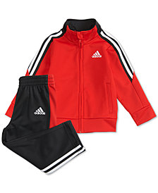 adidas Little Boys 2-Pc. Tri-Color Jacket & Pants Set