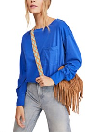 Free People Austin Cotton Long-Sleeve Top