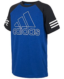 adidas Toddler Boys Logo-Print Raglan-Sleeve T-Shirt