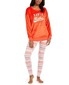 Faux Fur Tunic & Leggings Pajama Set, Created for Macy's