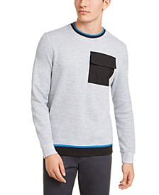 Men's Utility Pocket Crewneck Sweatshirt, Created for Macy's