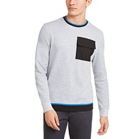 Deals on Alfani Mens Utility Pocket Crewneck Sweatshirt
