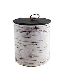 CLOSEOUT! 2 Qt Metal Birch Art Canister - Small