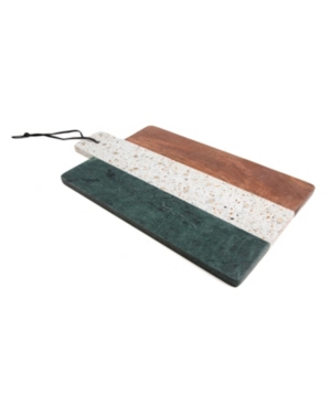 Closeout! Thirstystone Green Marble, Gold Brass, Terrazzo & Wood Paddle Board