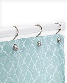 "Twist Fit™ No Tools Rust-Proof Aluminum Shower Curtain Rod, 42-72"""