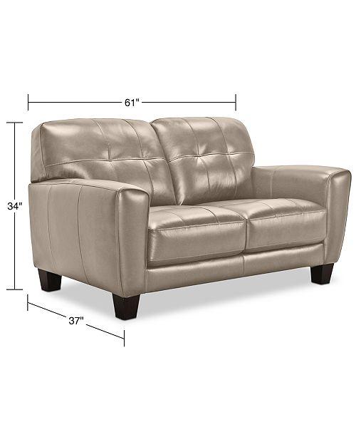 Phenomenal Kaleb 61 Tufted Leather Loveseat Created For Macys Machost Co Dining Chair Design Ideas Machostcouk