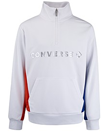 Big Boys Colorblocked Logo-Print 1/4-Zip Track Jacket