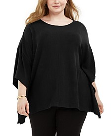 Plus Size Knit Cape Top, Created for Macy's