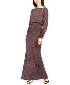 Metallic Blouson Gown