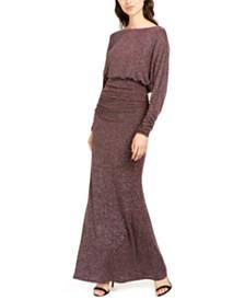 Vince Camuto Metallic Blouson Gown