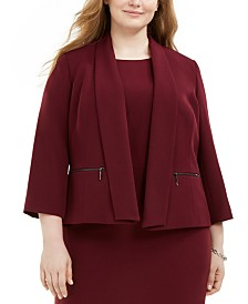 Kasper Plus Size Shawl-Collar Jacket