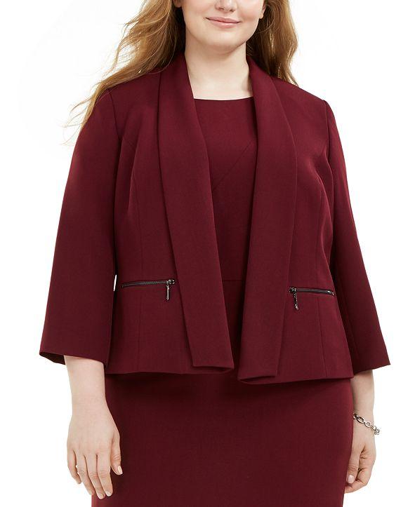 Kasper Plus Size Shawl-Collar Jacket