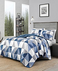 North Cove Navy Quilt Set, Full/Queen