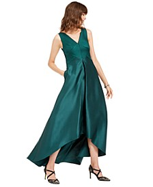 High-Low Mikado Gown