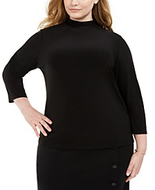 Plus Size Turtleneck Top