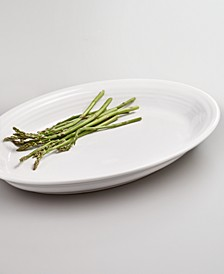 """White 13"""" Oval Platter"""