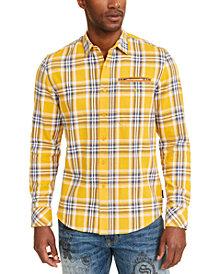 Sean John Men's Twill Flannel Plaid Shirt