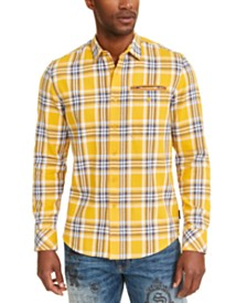 Sean John Men's Twill Flannel Plaid Shirt